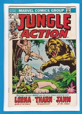 Jungle Action #1_Oct 1972_Vf_Jann Of The Jungle_Lorna, Queen Of The Jungle!
