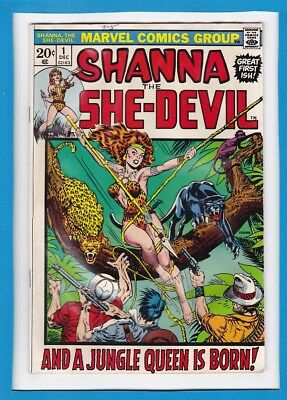 """Shanna The She-Devil #1_Dec 1972_Good/very Good_""""and A Jungle Queen Is Born""""!"""