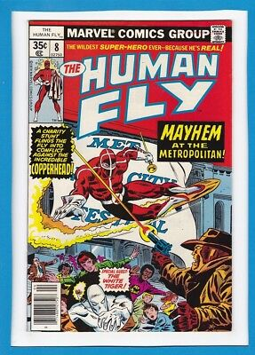 THE HUMAN FLY #8_APRIL 1978_VERY FINE MINUS_1st APP OF COPPERHEAD_SPIDER-MAN!