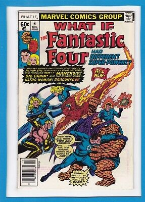 """What If #6_Dec 1977_Fine+_""""what If Fantastic Four Had Different Powers""""!"""