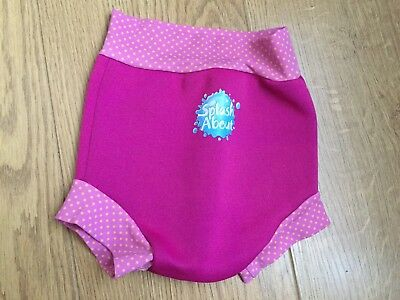 Splash About Pink Spot Trim Happy Nappy Large Upf 50+