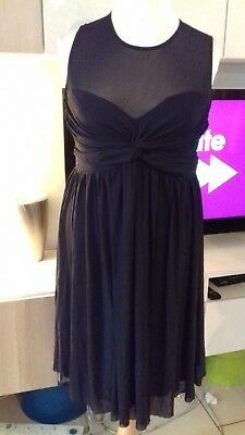 Asos Maternity Black Party Dress Size 14