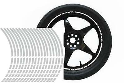NEW wheel rim tape striping stripes stickers SILVER..(36 pieces/8 per wheel)