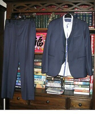 Boys Next 4 piece suit Jacket & waistcoat age 11, Trousers & shirt age 12