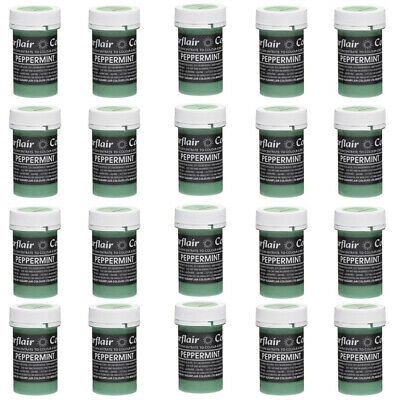 50 x Sugarflair PEPPERMINT GREEN Pastel Edible Food Cake Icing Colour Paste 25g