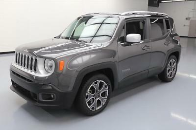 2017 Jeep Renegade Limited Sport Utility 4-Door 2017 JEEP RENEGADE LIMITED HTD LEATHER REAR CAM 23K MI #E40455 Texas Direct Auto
