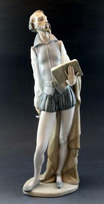 Vintage Lladro NAO Figurine Don Quixote Reading Retired 2011 No Reserve