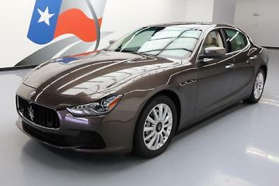 2014 Maserati Ghibli Base Sedan 4-Door 2014 MASERATI GHIBLI TURBO SUNROOF NAV REAR CAM 18K MI #084345 Texas Direct Auto
