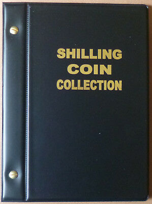 VST AUSTRALIAN 1/- COIN ALBUM SHILLING 1910 to 1963 with MINTAGES - BLACK Colour