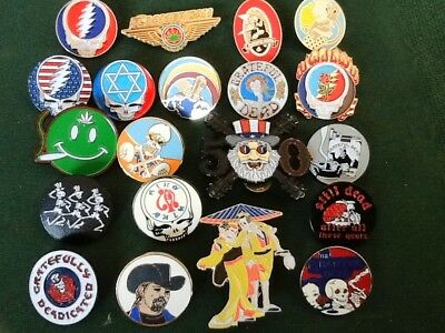 20 Different Grateful Dead Relix Iconic Pin Art Great Asstmnt For Gift & Vending