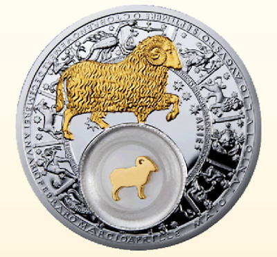 Belarus 2013 20 rubles Aries Zodiac 28,28g Proof Silver Coin