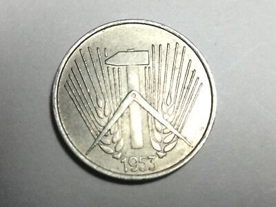 EAST GERMANY 1953-A 1 Pfennig coin uncirculated