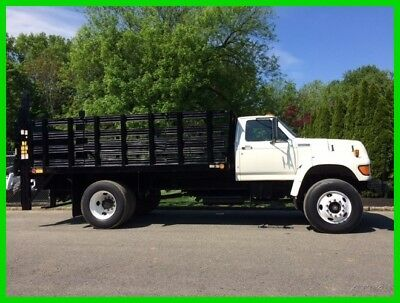 1997 Ford F-Series Stake Body Flatbed Cummins Diesel Truck Liftgate Low Miles