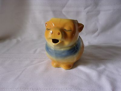 Shawnee Clover Pig Creamer Pitcher Yellow with Blue Scarf 86