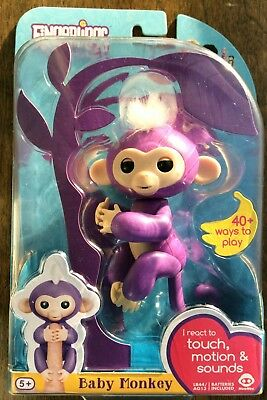 Humorous Wowwee Fingerlings Interactive Blue Monkey 100% Authentic Bonus Maxell Lr44 Spielzeug