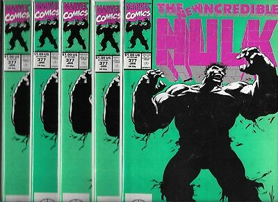 The Incredible Hulk #377 Lot Of 5 Copies (Nm-) Copper Age