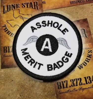 A Hole Merit Badge patch