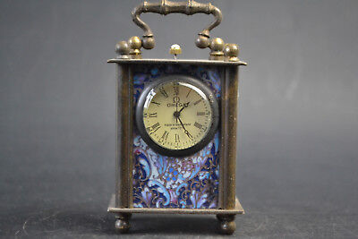 Collectible Old Made Hand-mechanical Exquisite Used the West Clock Noble China