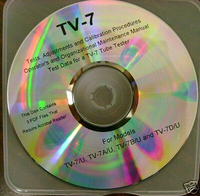 TV-7 Tube Tester Test Data, Calibration, GM Conversion Chart & More CDrom