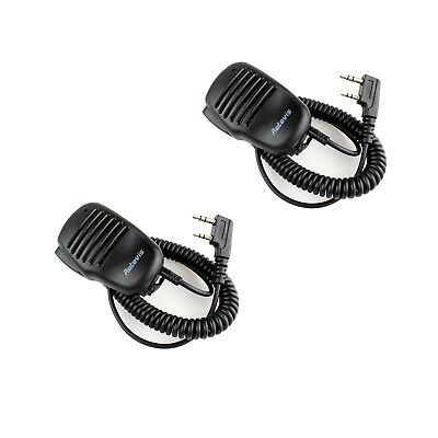 2X Retevis 2 Pin Mini PTT Speaker Mic For KENWOOD ETEVIS TYT PUXING WOUXUN BF US