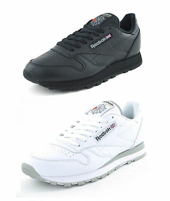 Reebok New Man's Classic Leather  Trainers Color Black/white