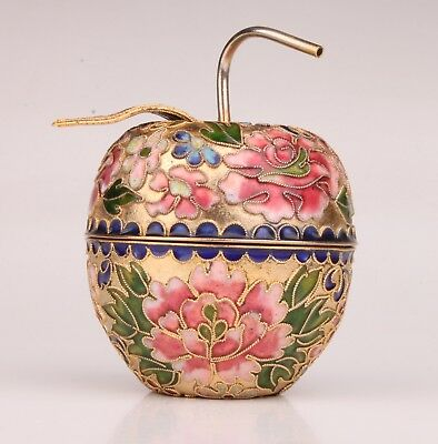 Cloisonne Box Gift Old Handmade Jewelry Collection