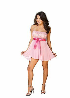 Shirley Of Hollywood Numero 96273 Taglia Unica Luce Rosa Tie-Front Stretch Pizz