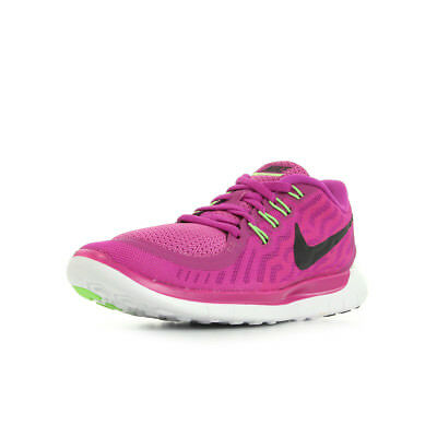watch 9cbd5 7784c Chaussures Baskets Nike femme WMNS NIKE FREE 50 taille Rose Textile Lacets