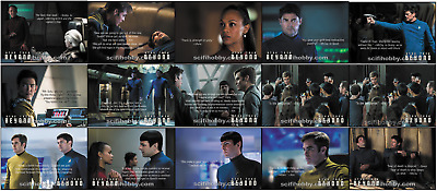 2017 Star Trek Beyond Movie Trading Cards Complete 15 Card Quotable Insert Set