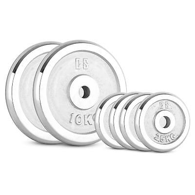 OFERTA Discos Barra Olímpica Set Pesos Pesas Gym 30Kg Orificio 30mm Fitness