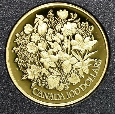 1977 Canada Gold $100 22k Silver Jubilee - Proof With Box And Coa