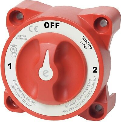 Marine Boat Battery Switch 3 Position Off -ON with AFD  Blue Sea 11001