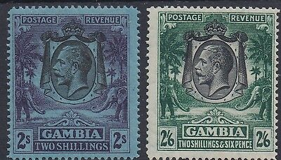 Gambia 1922 Kgv Elephants 2/- And 2/6