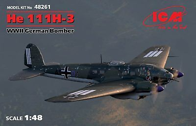 ICM 48261 1:48 He 111H-3 WWII German Bomber