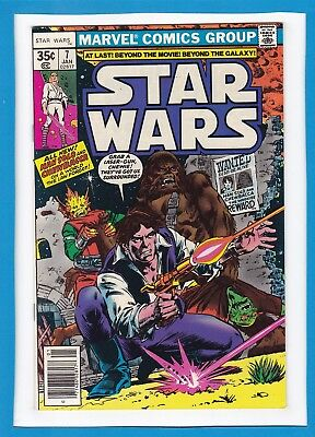 "Star Wars #7_Jan 1978_Nm Minus_Han Solo & Chewbacca_""new Planets, New Peril""!"