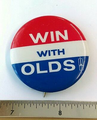 """Vintage """"Win with Olds"""" Pinback"""