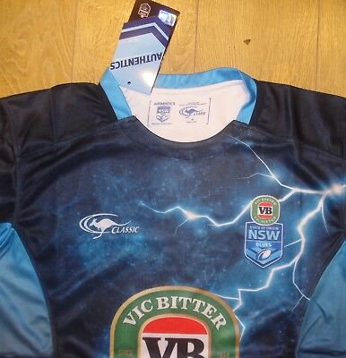 BNWT Medium New South Wales NRL Rugby League Training Shirt (2017)