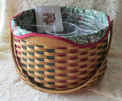 Longaberger 2003 Holiday Hostess Joyful Chorus Basket American Holly 2 Protector