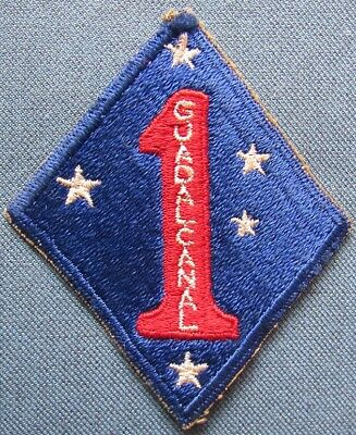 WWII US 1st Marine Division shoulder patch
