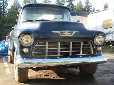 1955 Chevrolet Other Pickups Cameo Big Back Window 1955 Chevrolet Cameo top-of-the-line Pickup Stalled Project