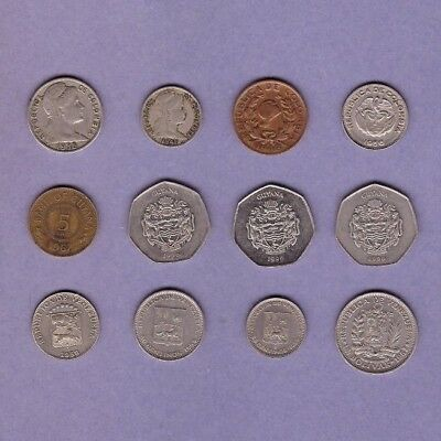 Guyana, Colombia & Venezuela - Coin Collection - World/Foreign/South America