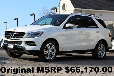 2015 Mercedes-Benz M-Class ML250 BlueTEC 4Matic 2015 Panorama Roof Xenon Headlights A/C Massage Front Seats White Diesel AWD