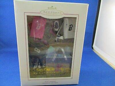 Hallmark Keepsake Christmas Ornament Series Barbie Step Out In Style Set  2005