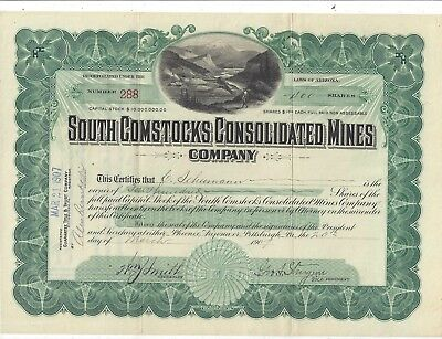 Stk-South Comstocks Consolidated Mines Co. 1907  Como, Nevada Info image #5