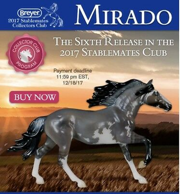 """Breyer Andalusian Cross """"Mirado"""" 6TH Release 2017 Stablemate Collector club only"""