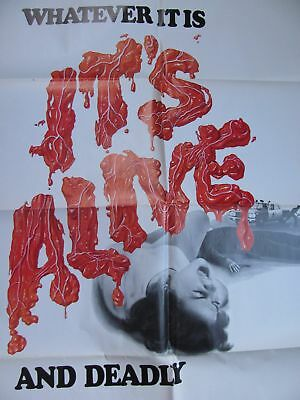 """ORIGINAL ~ 1974 ~ """"WHATEVER it is IT'S ALIVE""""  1-Sheet MOVIE POSTER ~ Nice!!"""
