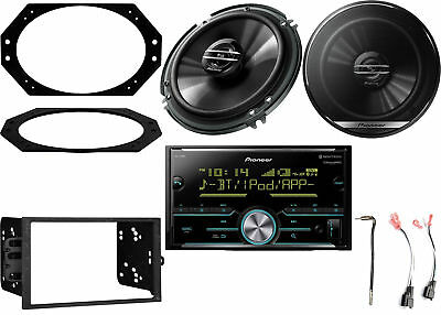 "Bluetooth SiriusXM Radio + Kit, 2x 6.5"" Speakers w/ Plates + Connector, Adapter"