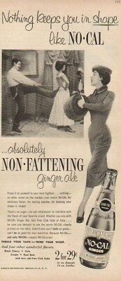 1953 No-Cal Ginger Ale Kirsch Beverages Brooklyn New York NY Corset Tying Ad