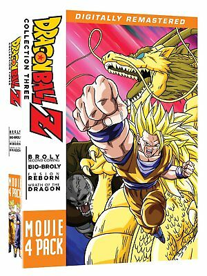 Dragon Ball Z Movie Pack Collection 3 10-13 Broly Fusion Wrath Region 1 New DVD