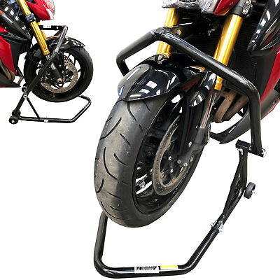 Motorcycle Front HEADSTOCK Head Lift Paddock Motorbike Adjustable Bike STAND
